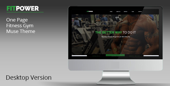Fitpower One Page Muse Template