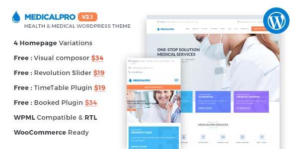 25+ Best Dental Care and Dentist WordPress Themes 2019 17
