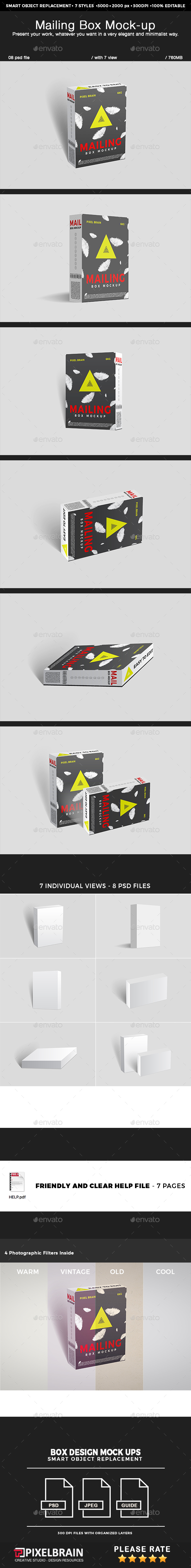 Mailing Box Mock-up - Miscellaneous Packaging