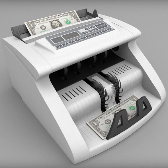 Money Counter Bank Machine - 3DOcean Item for Sale