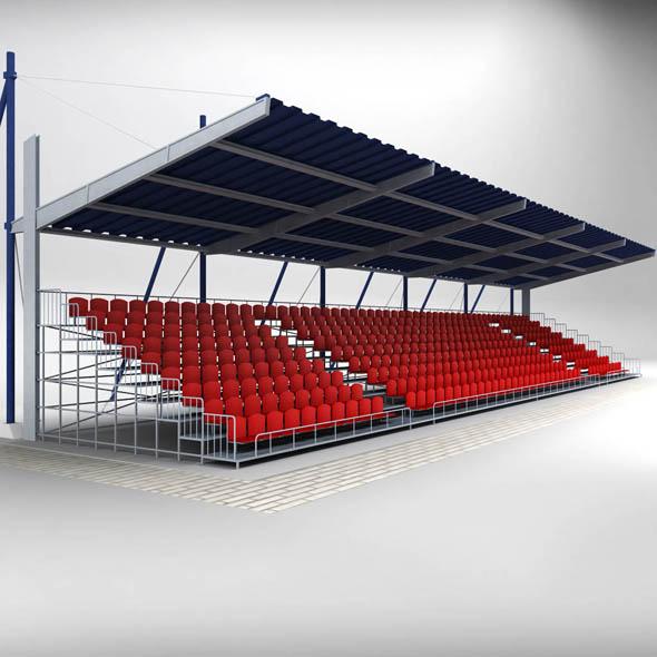 Stadium Seating Tribune Canopy 2 - 3DOcean Item for Sale