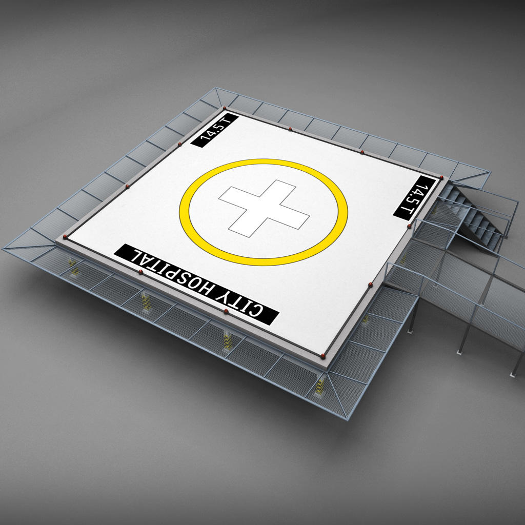 Helipad Square By Kr3atura 3docean
