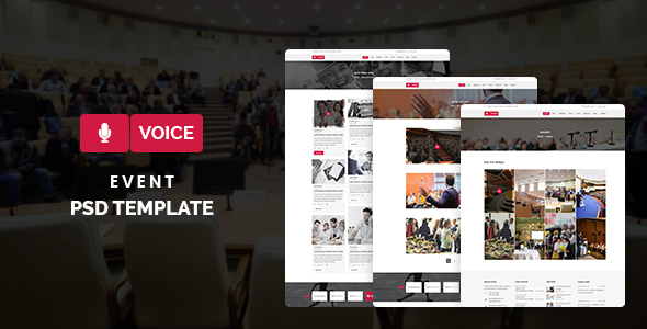 Voice – Event PSD Template