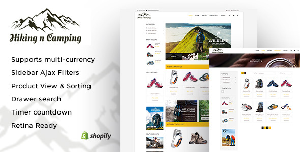 Hiking and Camping: An Outdoor Shopping Experience Shopify Theme