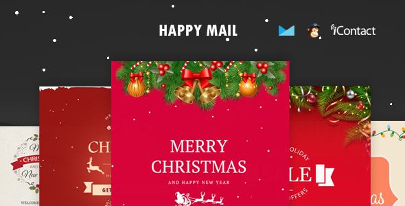 Happy Mail - Christmas Email Templates set + Online Access - Email Templates Marketing