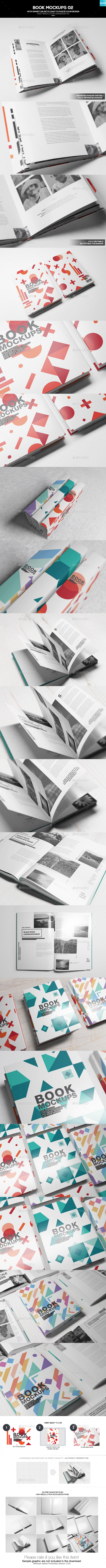 Book Mockups 02 - Books Print
