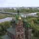 Aerial Shot Yaroslavl and Church of St. John the Baptist. Golden Ring of Russia - VideoHive Item for Sale