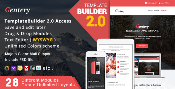 Gentery – Responsive Email + MailBuild Online