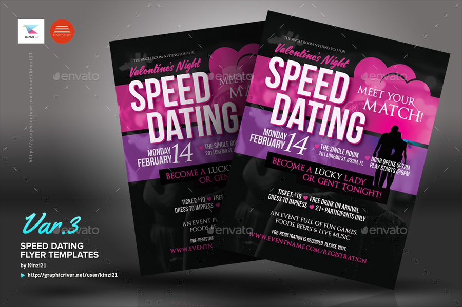 speed dating flyer templates by kinzi21