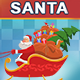 Animated Santa Riding On Sleigh - VideoHive Item for Sale