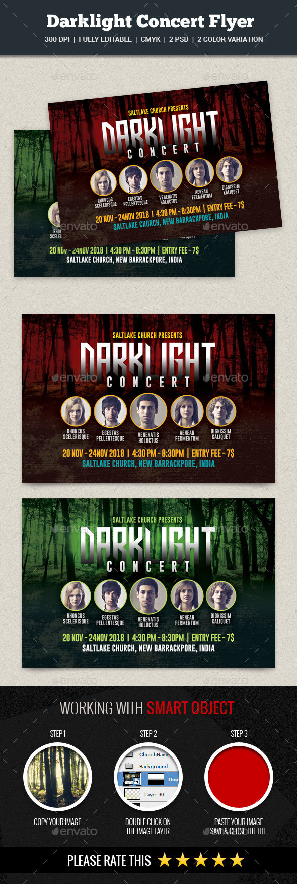 Darklight Concert Flyer - Church Flyers