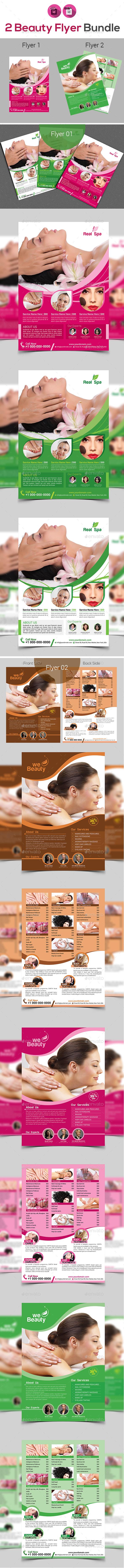 Spa & Beauty Salon Flyer Bundle V2 - Corporate Flyers