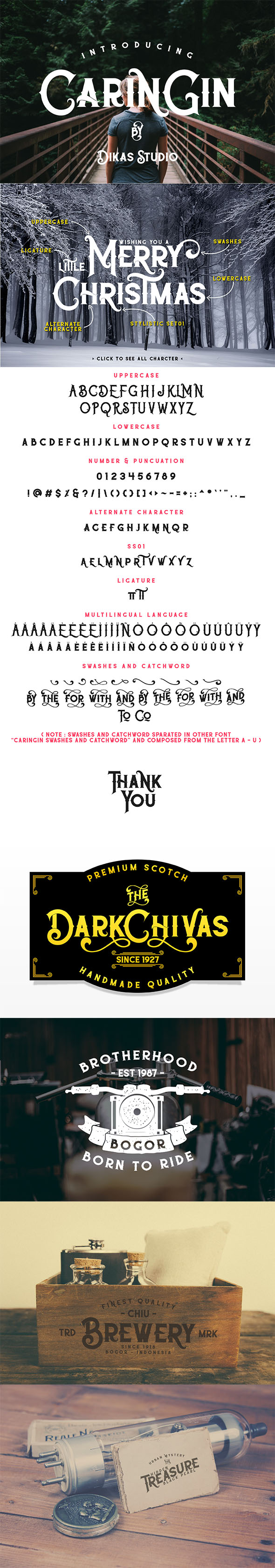 Caringin Typeface - Gothic Decorative