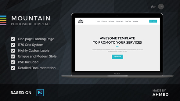 Mountain - Marketing PSD Template