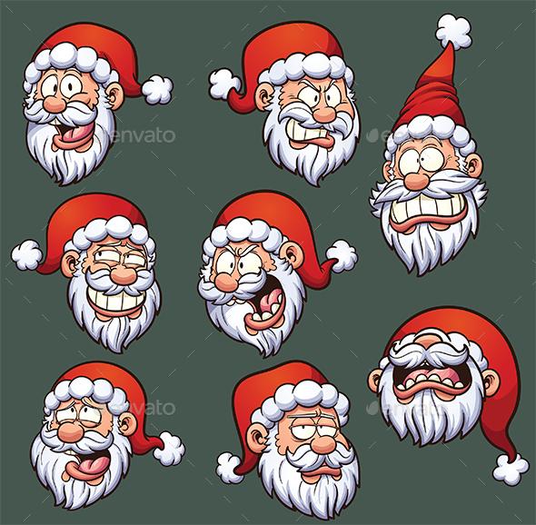 Santa Emoticons - Christmas Seasons/Holidays