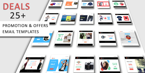 Deals – Complete Set of Product Promotion, Offers Email Templates Pack