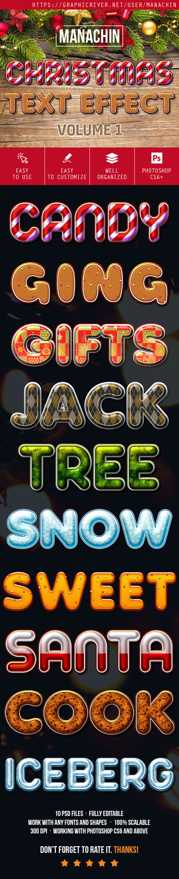 Premium Christmas Text Effects Vol.1 - Text Effects Actions