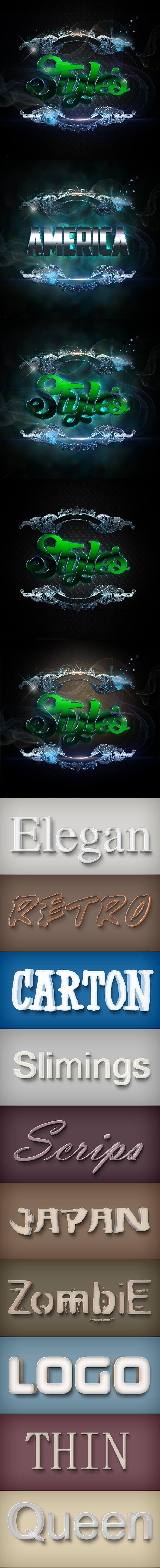 Elegant Styles Vol 003B - Styles Photoshop
