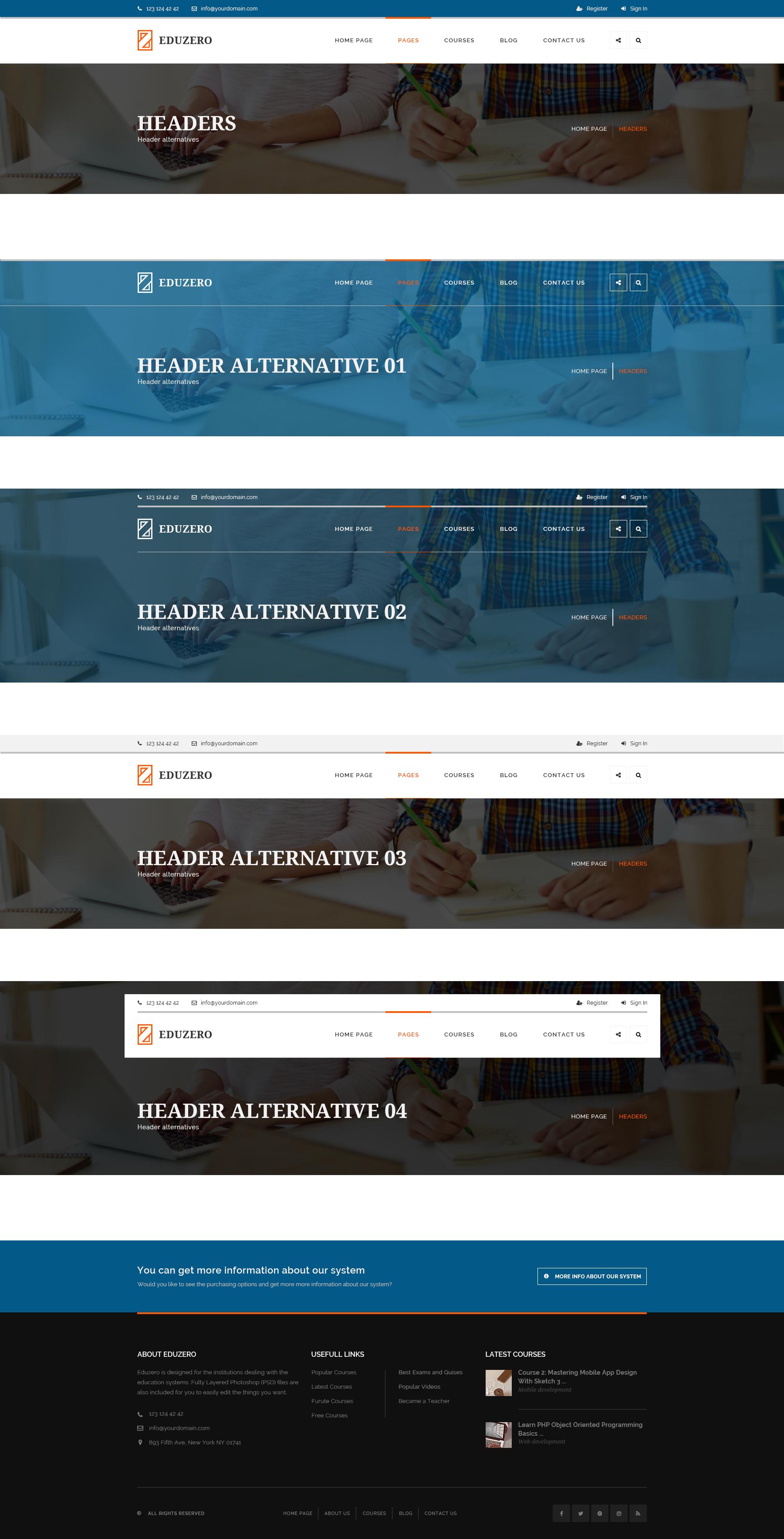 EDUZERO - Education PSD Template by raera | ThemeForest