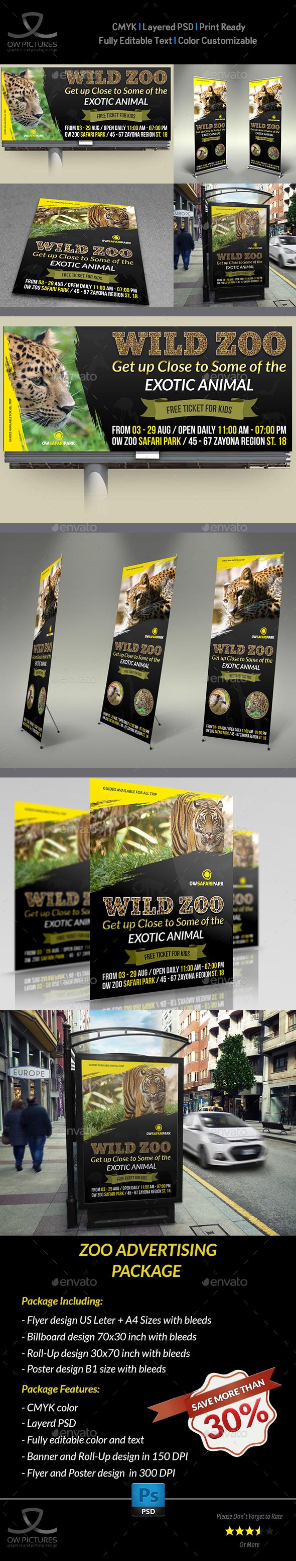 Zoo Advertising Bundle - Signage Print Templates