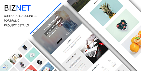 BIZNET_Corporate / Business Responsive Muse Template