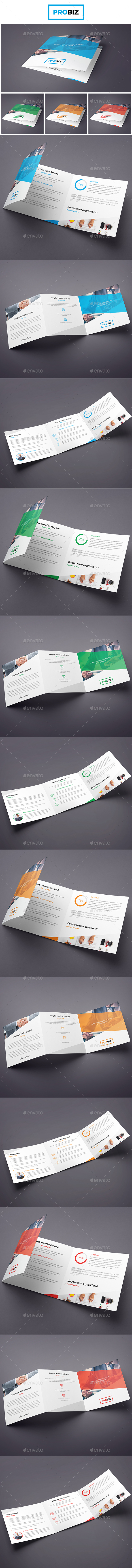 ProBiz – Business and Corporate Brochure Tri-Fold Square - Corporate Brochures