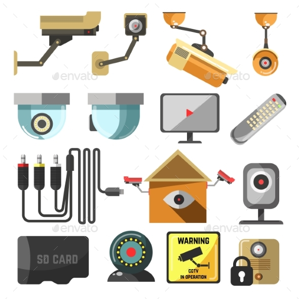 Security and Surveillance Elements Collection - Man-made Objects Objects