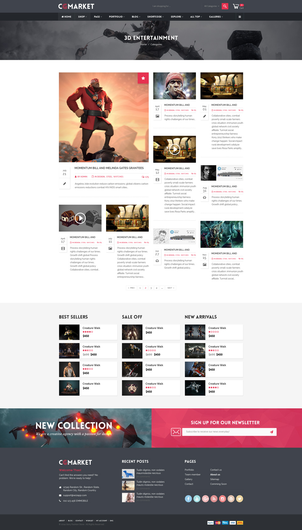 Dance CGMarket D Model Marketplace Design PSD Template By Tvlgiao - Buy ecommerce website templates