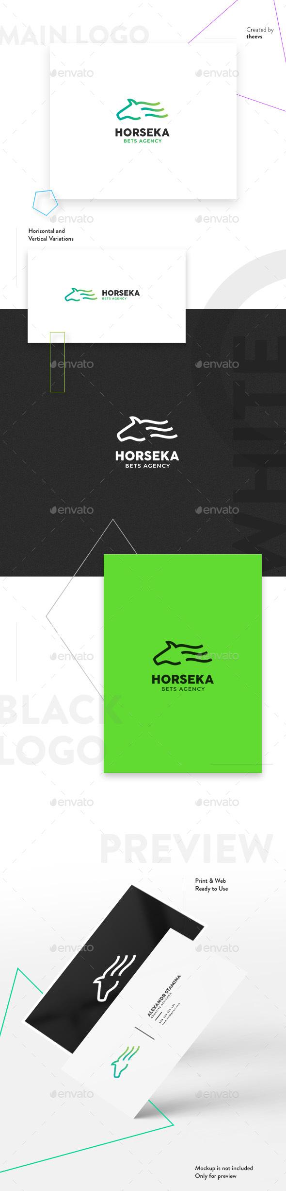 Horseka Logo - Animals Logo Templates