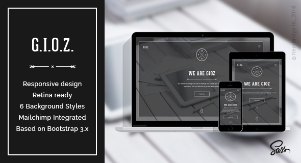 Gioz — Creative Coming Soon & Maintenance Mode Template