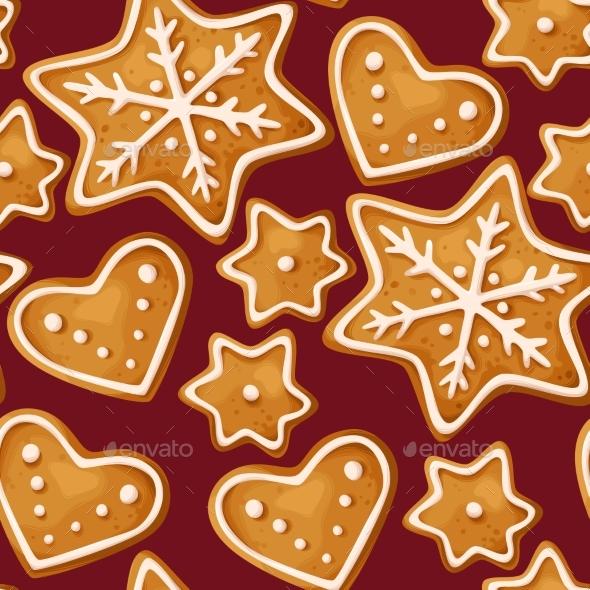 Christmas Ginger Seamless - Christmas Seasons/Holidays