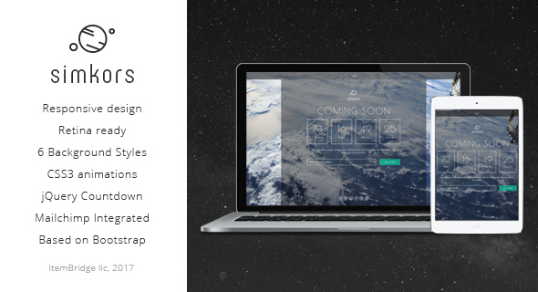 SimKors — Creative Coming Soon & Maintenance Mode Template Free Templates