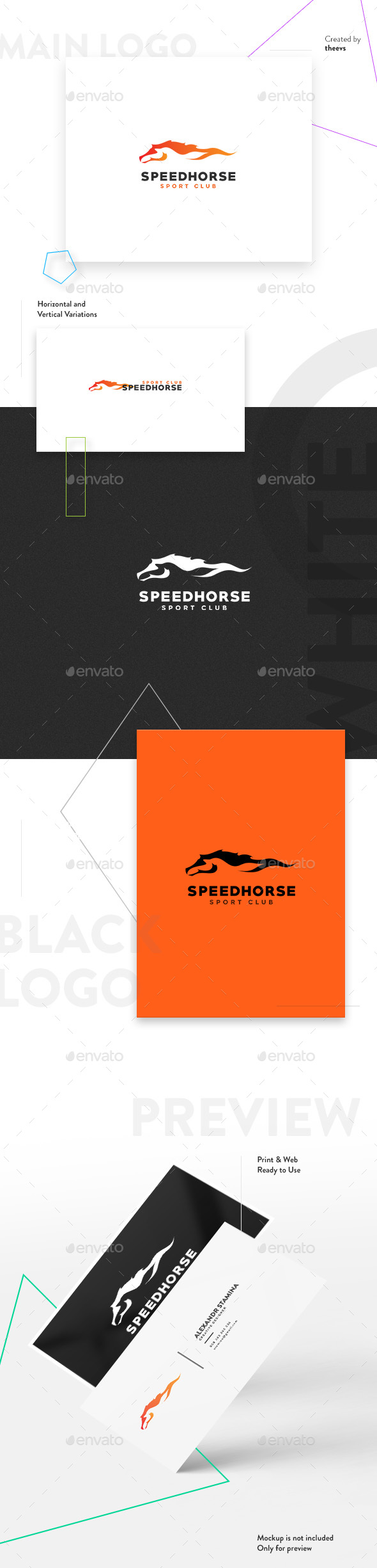Speedhorse Logo - Animals Logo Templates