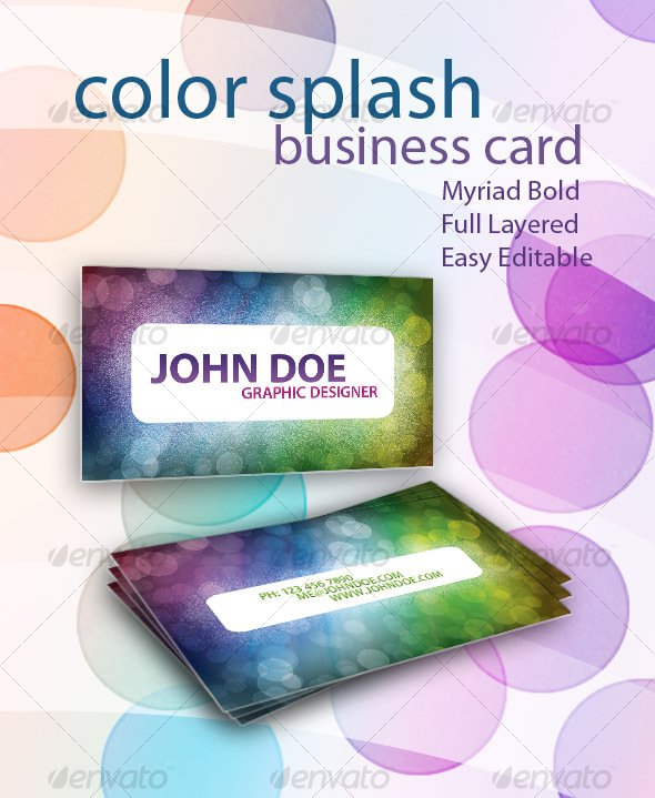 Color Splash Business Card - Creative Business Cards