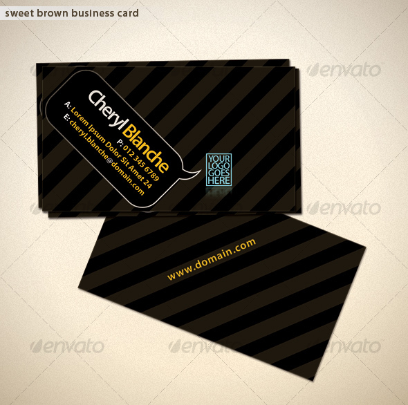 Sweet Brown Business Card - Creative Business Cards