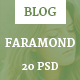 Faramond - Creative Blog Template - ThemeForest Item for Sale