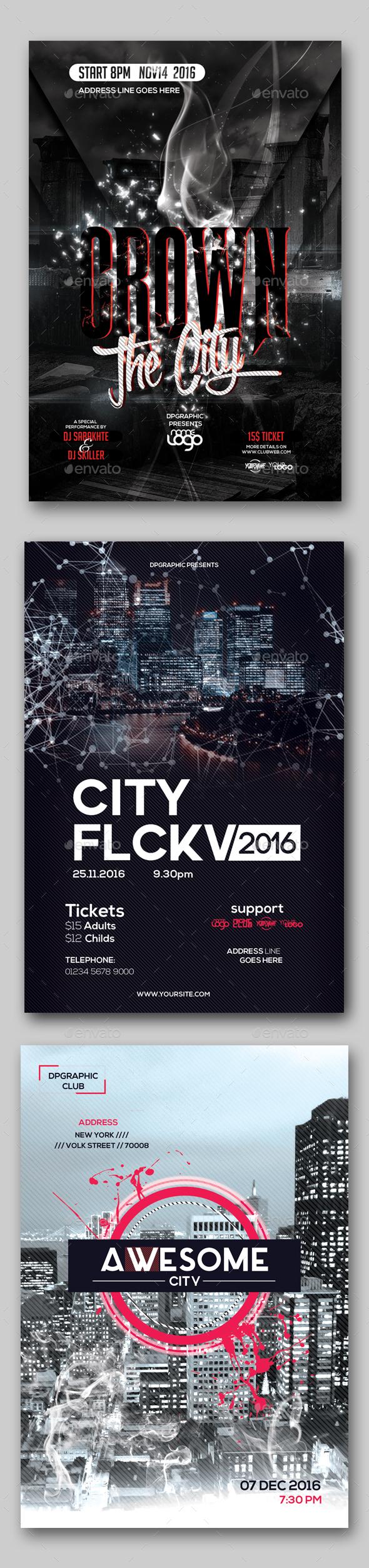 3 in 1 City Flyer Bundle Vol. 2 - Events Flyers