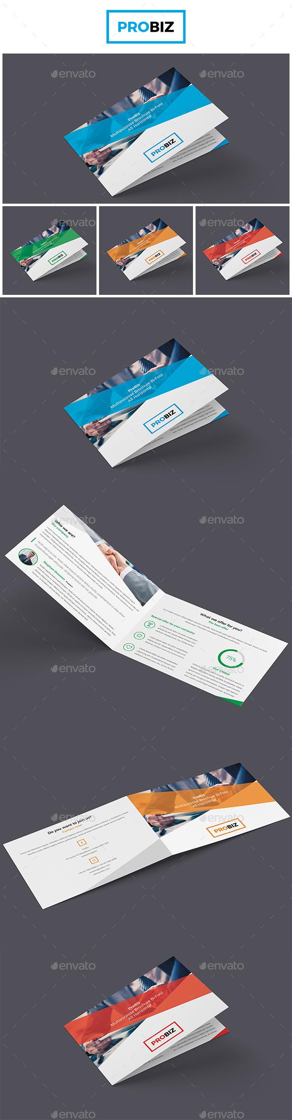 ProBiz - Business and Corporate Brochure Bi-Fold A5 Horizontal - Corporate Brochures