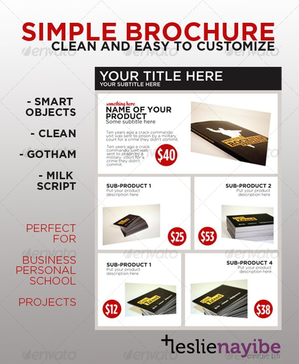Simple brochure by leslienayibe graphicriver simple brochure catalogs brochures saigontimesfo