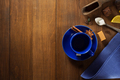 empty cup of coffee on wood - PhotoDune Item for Sale