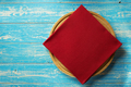 napkin and board on wooden background - PhotoDune Item for Sale