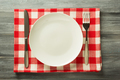 plate, knife and fork on rustic background - PhotoDune Item for Sale