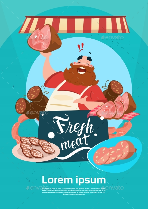 Farmer Sells Pork Meat Products - Retail Commercial / Shopping