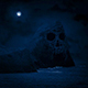 Scary Skull Island With Moon Above - VideoHive Item for Sale