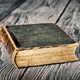 Ancient closed book with green cover - PhotoDune Item for Sale