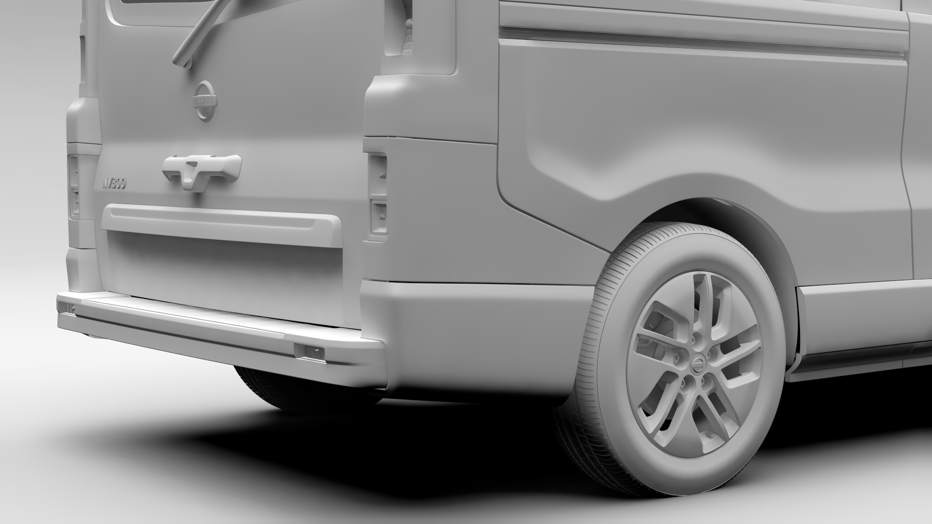 nissan 15 passenger van by nissan nv 300 combi l2h1 2016 by creator 3d 3docean