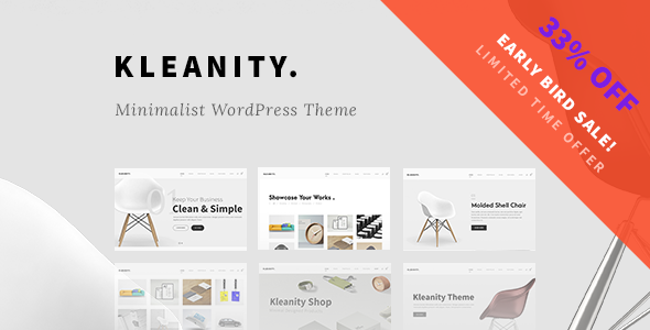 Kleanity – Minimalist WordPress Theme / Creative Portfolio