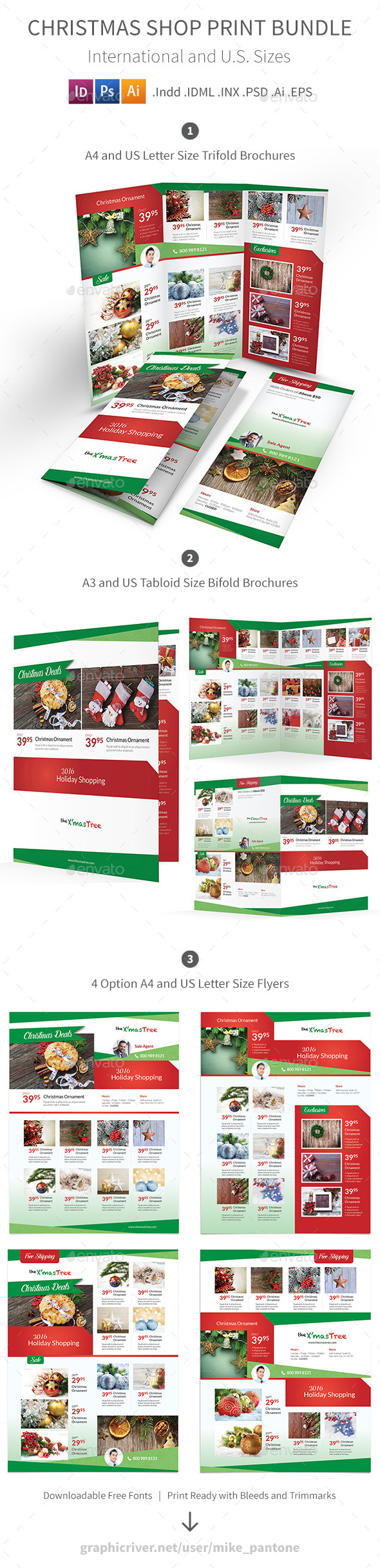 Christmas Shop Print Bundle - Informational Brochures