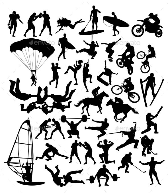 Extreme Sport Silhouettes - Sports/Activity Conceptual
