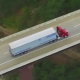 Semi Truck Driving on Rual Highway - VideoHive Item for Sale
